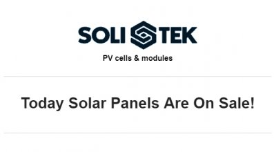 Are you ready for great take off? Today solar panels are on sale!